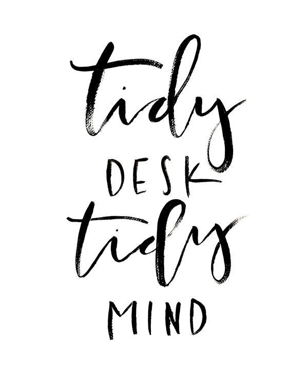 porządek na biurku a skupienie