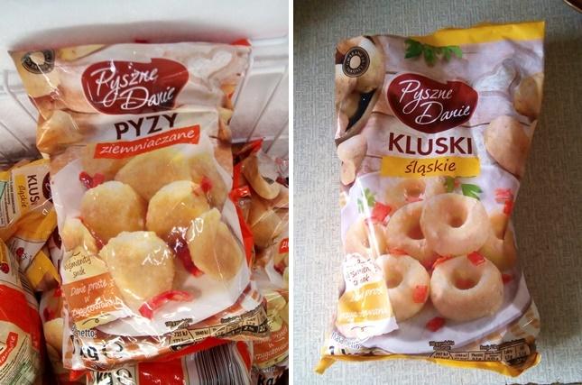 wegańskie pyzy i kluski śląskie w biedronce