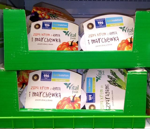 wegańskie zupy w Biedronce