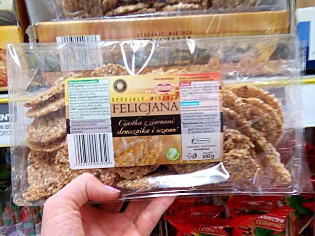 wegańskie ciastka w Biedronce