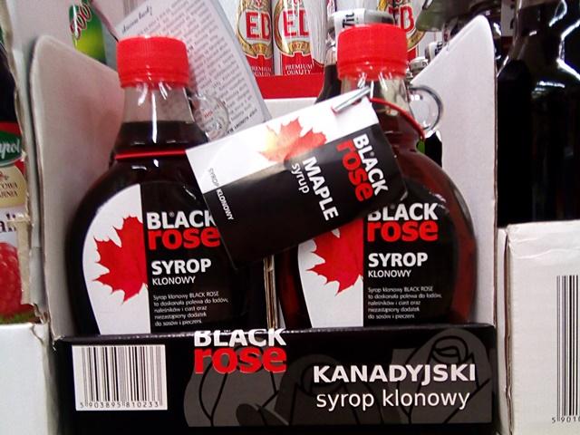 wegańskie produkty w biedronce - syrop klonowy