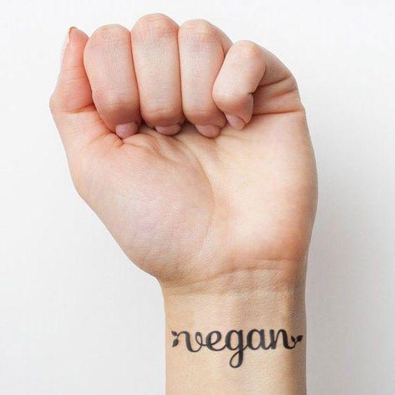 wegańskie tatuaże