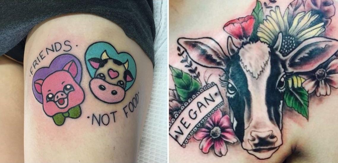 wegańskie tatuaże - pomysły