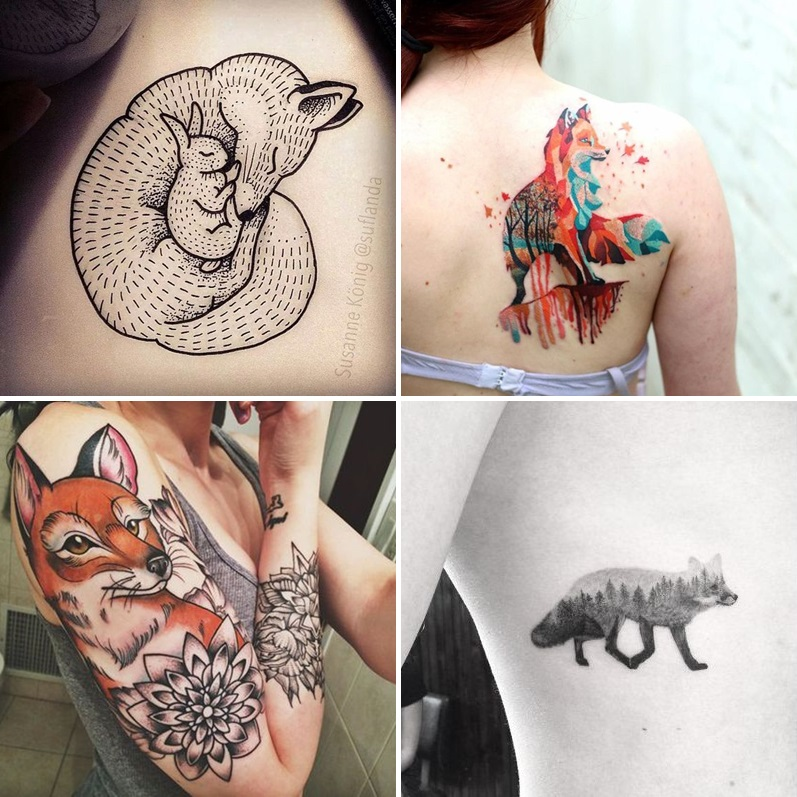 tatuaże z lisami - pomysły