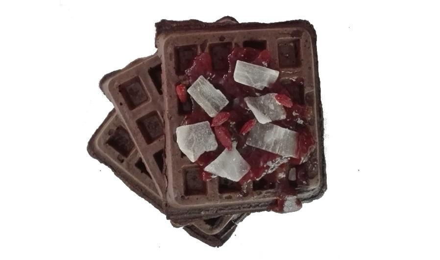 wegańskie gofry czekoladowe - przepis
