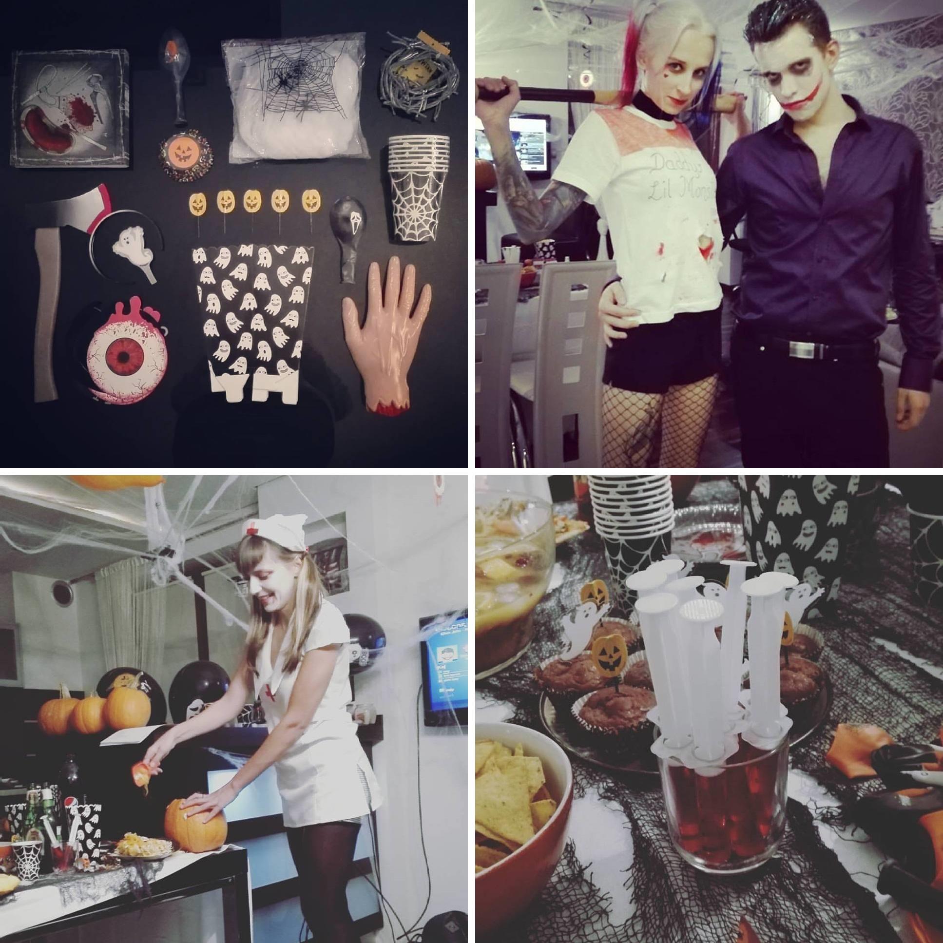 halloween, przebranie harley quinn i jokera