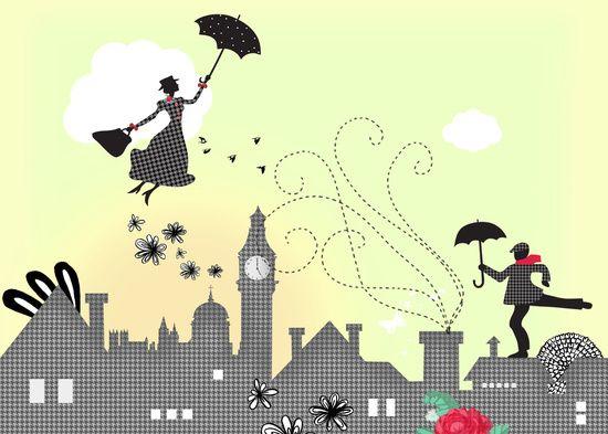 Mary Poppins ilustracja