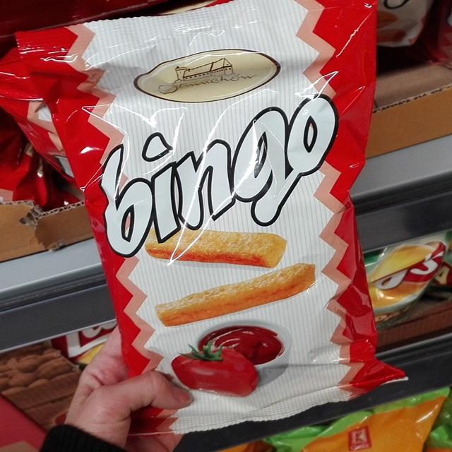 wegańskie chrupki bingo