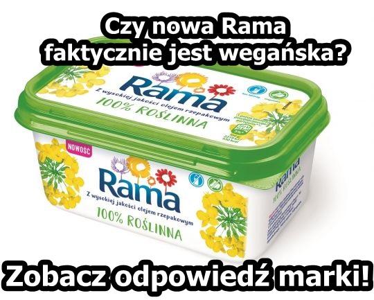 czy Rama 100% roślinna jest wegańska?