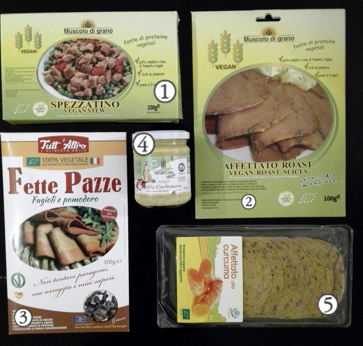 wegańskie produkty we Włoszech