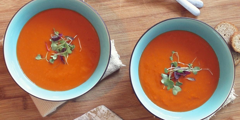 wegański chłodnik pomidorowy - przepis