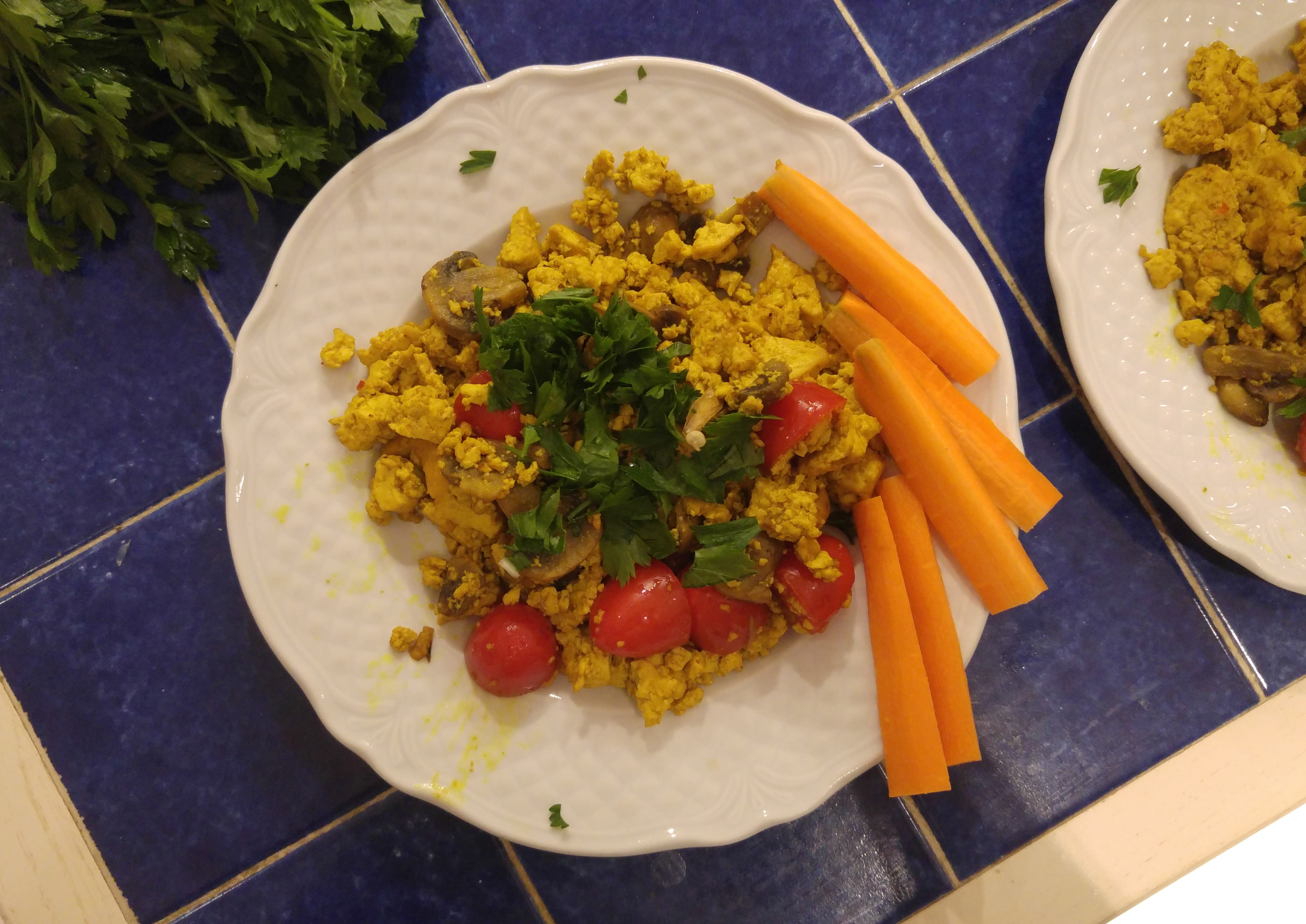 wegańska jajecznica - tofucznica