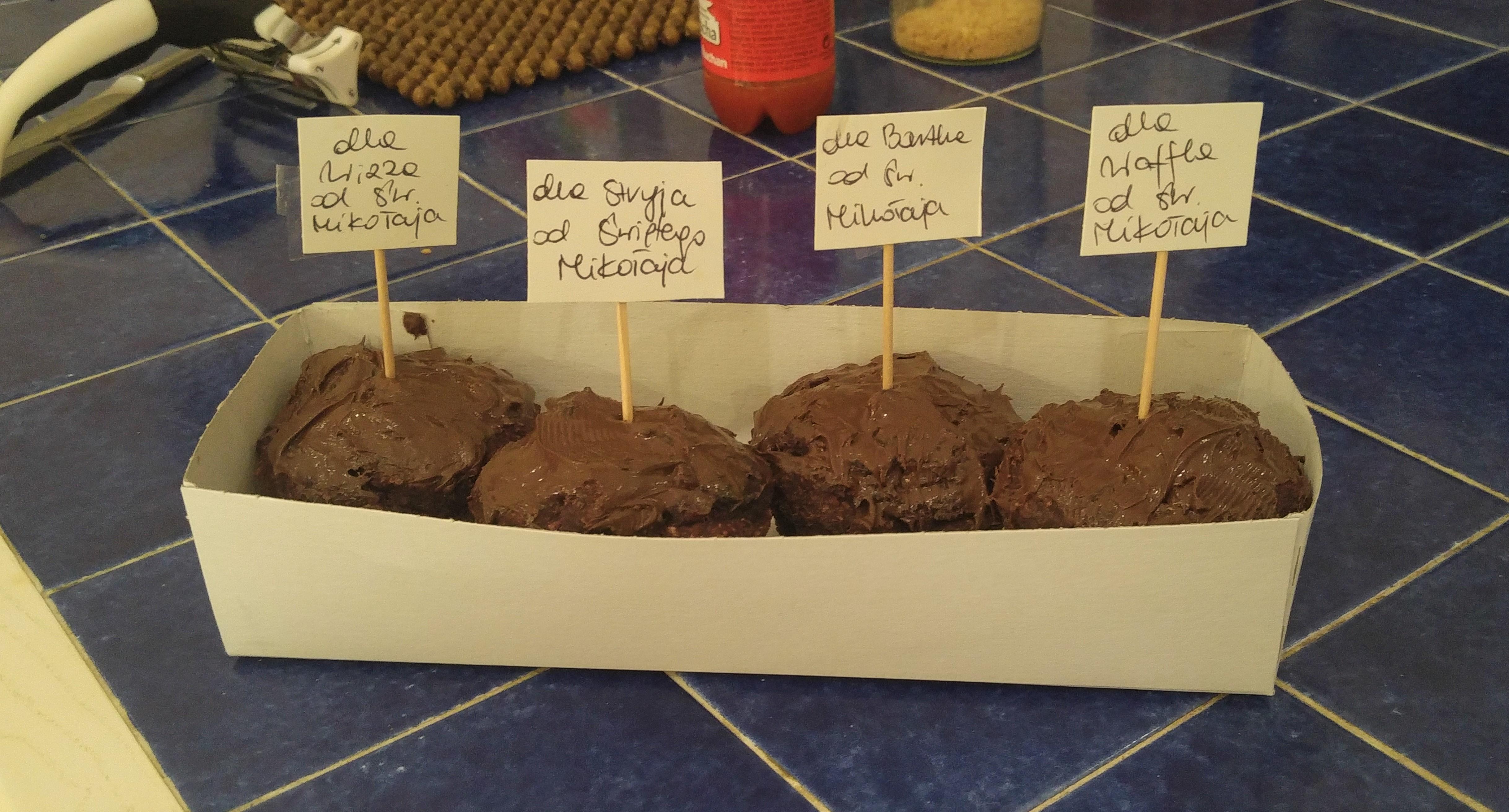 czekoladowe muffiny wegańskie - przepis