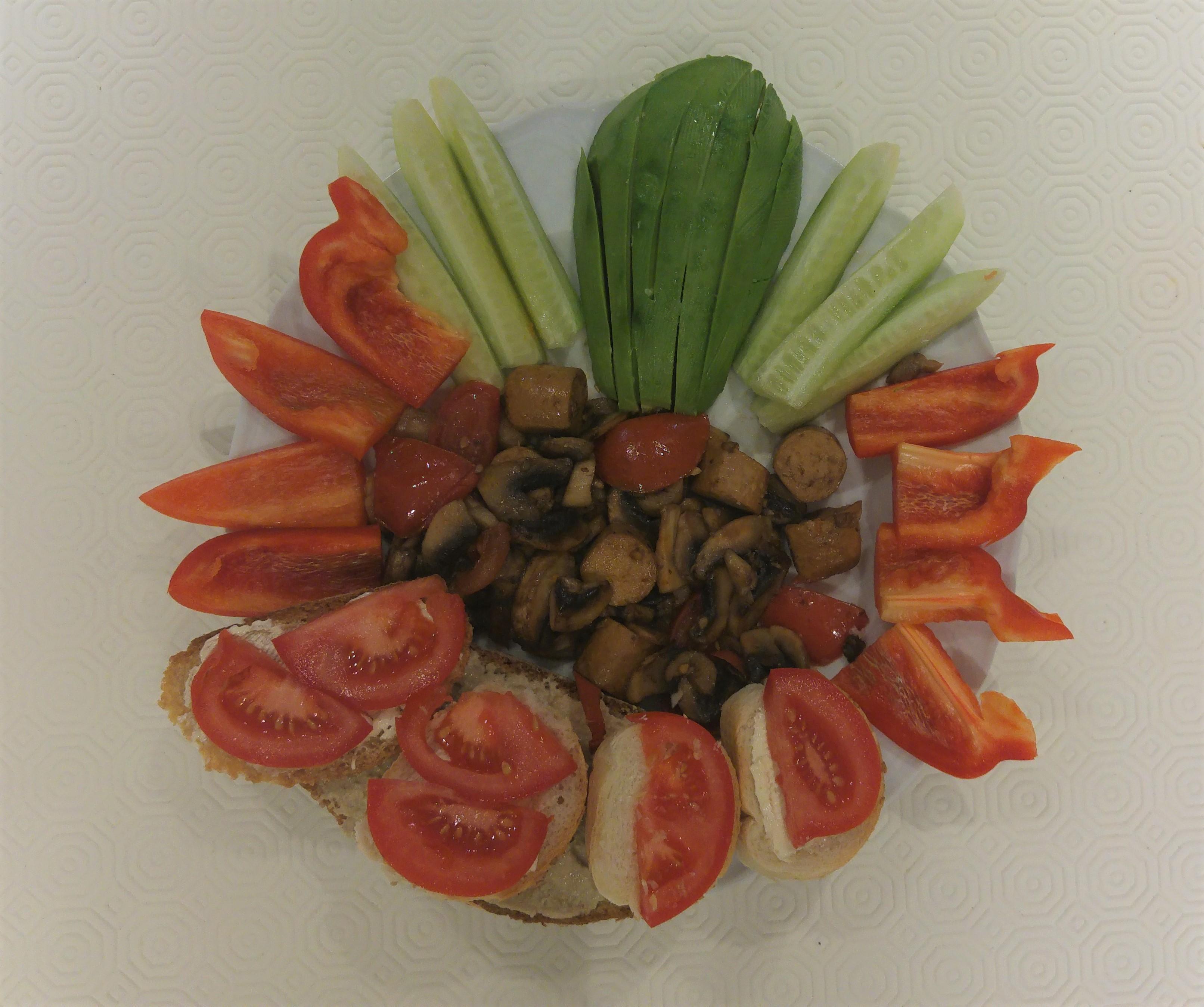 wegański obiad - przykład