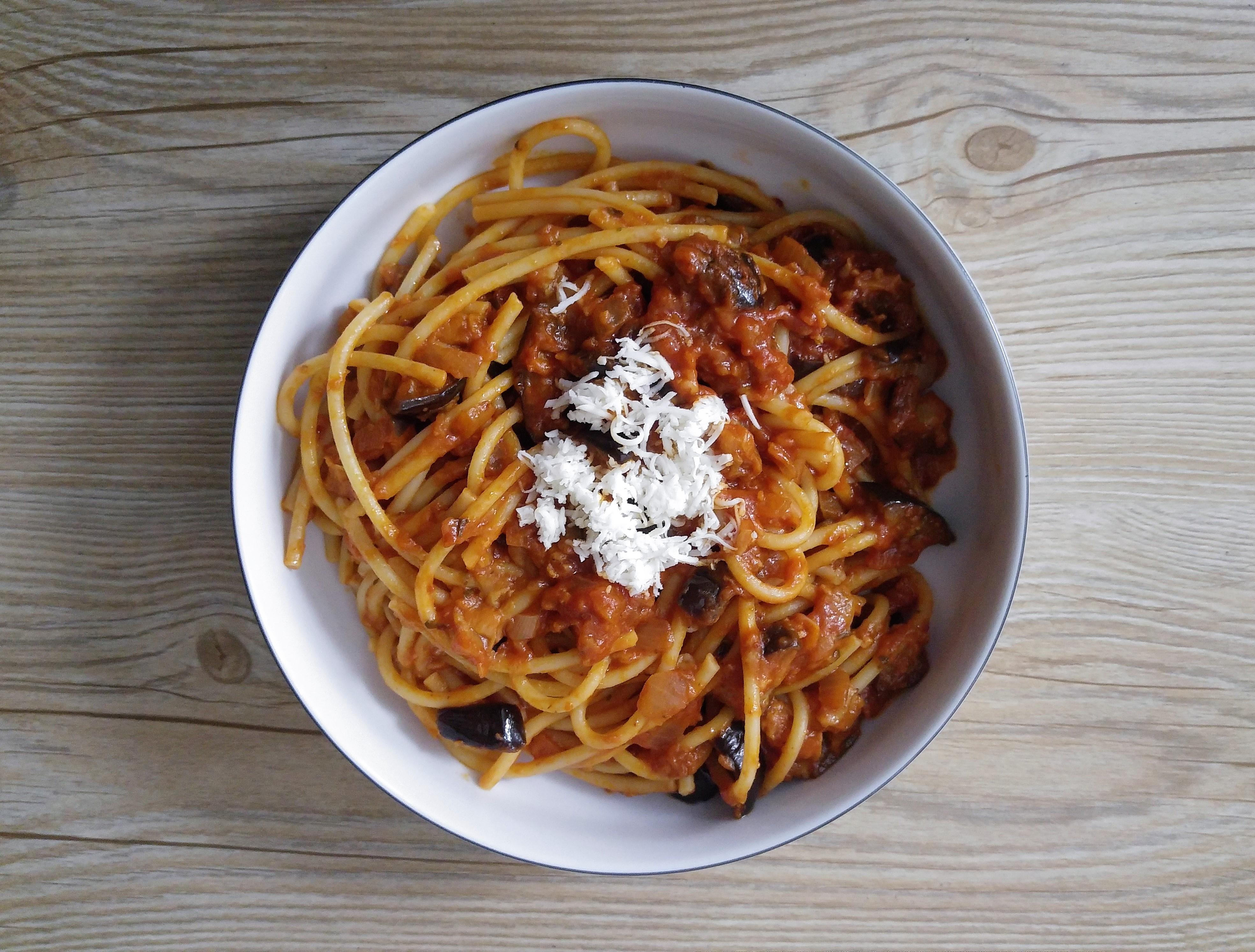wegańska pasta alla norma - przepis