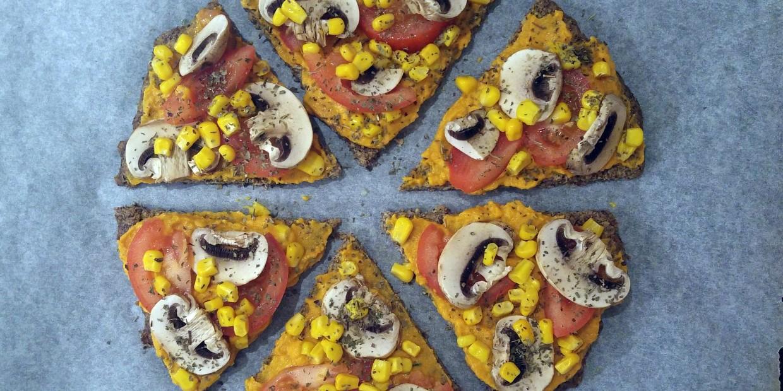 wegańska bezglutenowa pizza low carb