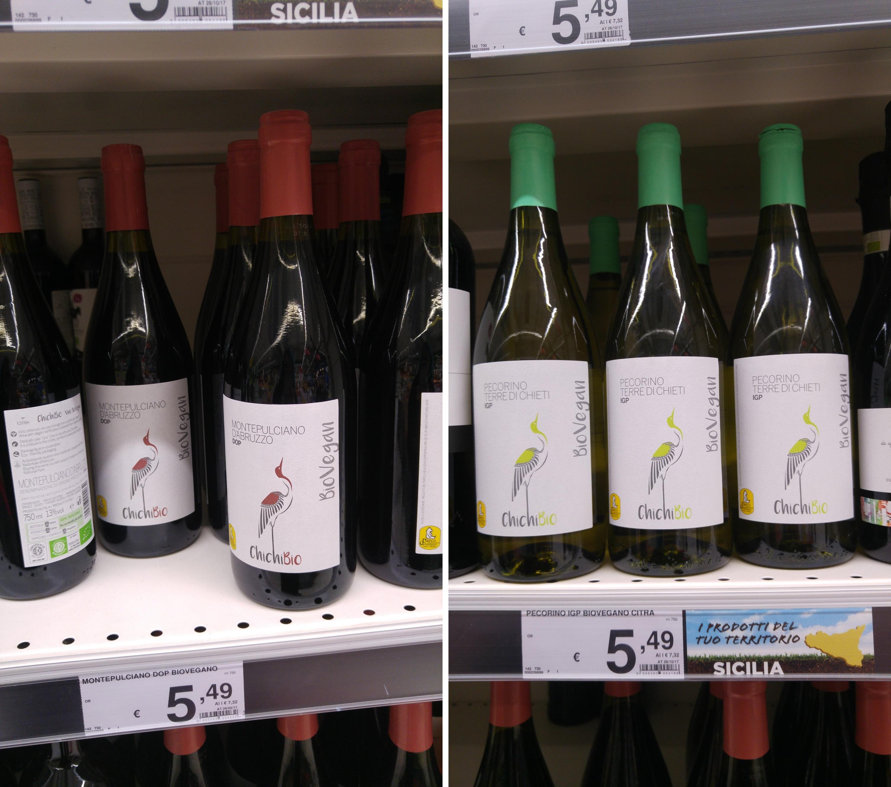 wegańskie wino Auchan