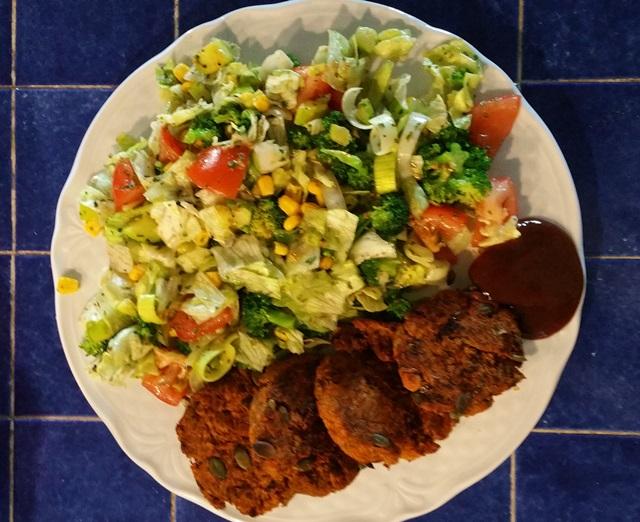 wegański obiad low carb