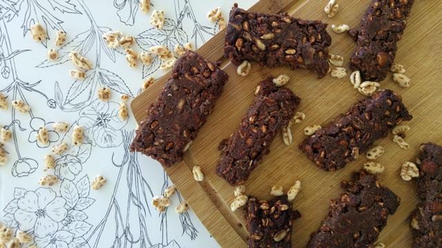 czekoladowe wegańskie batony