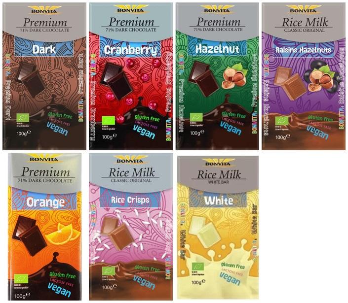 czekolady z mleka roślinnego