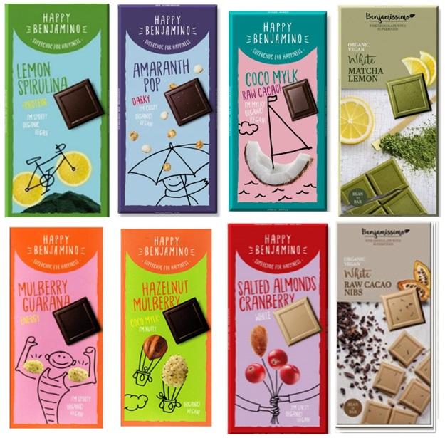 wegańskie czekolady happy benjamino