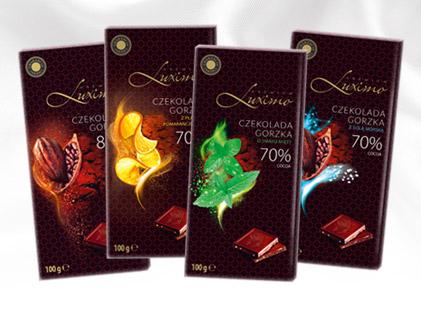 czekolady luximo wegańskie z Biedronki