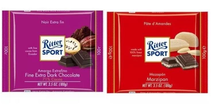 wegańskie czekolady rittersport