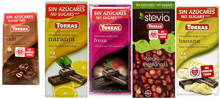 wegańskie bezglutenowe czekolady Torras