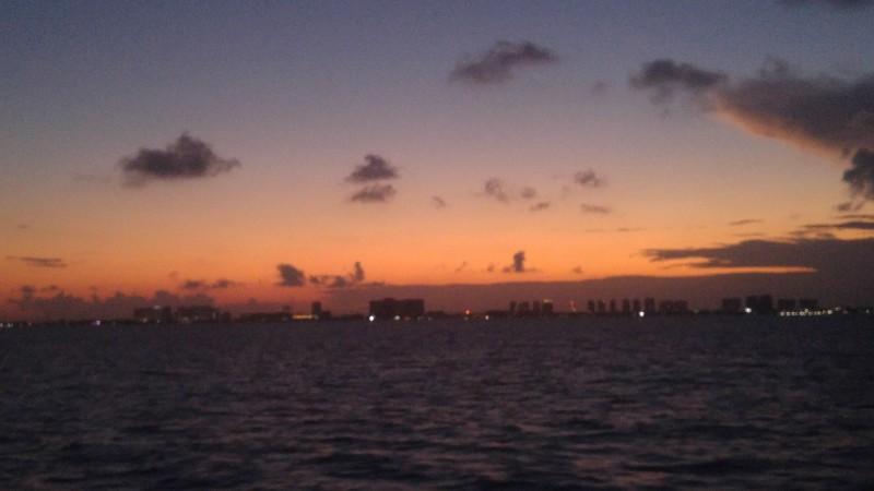 zachód słońca nad Cancun