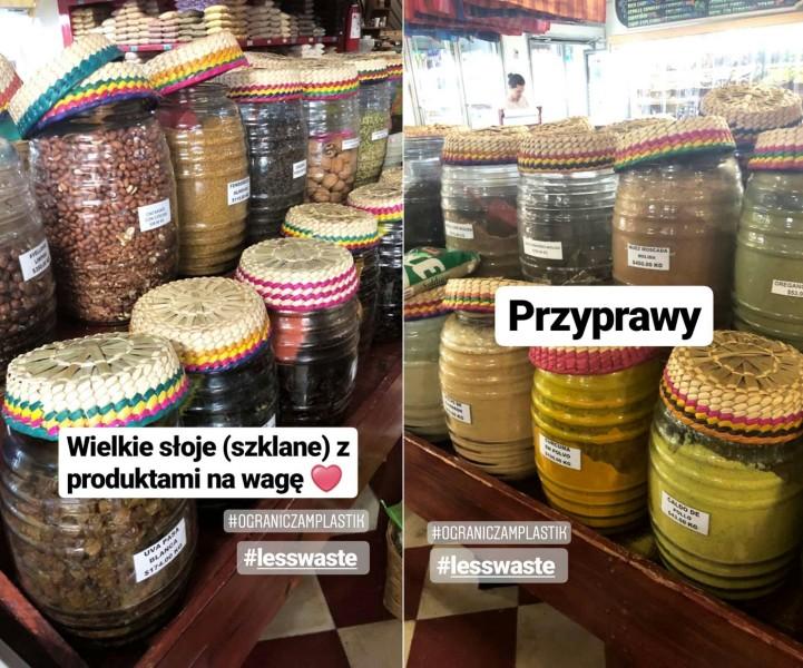 sklep bez plastiku, produkty na wagę