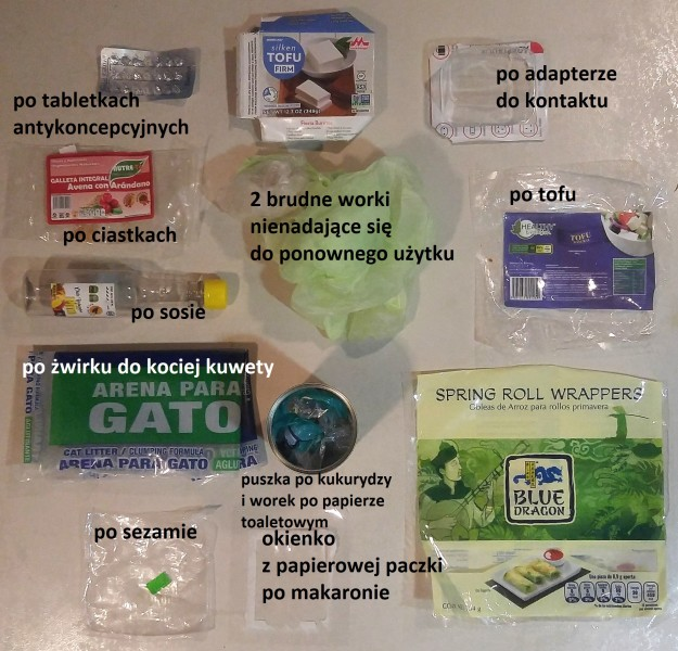 plastikowe śmieci - ograniczam plastik