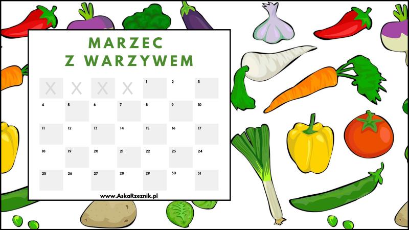 marzec 2019 - kalendarz do wydruku