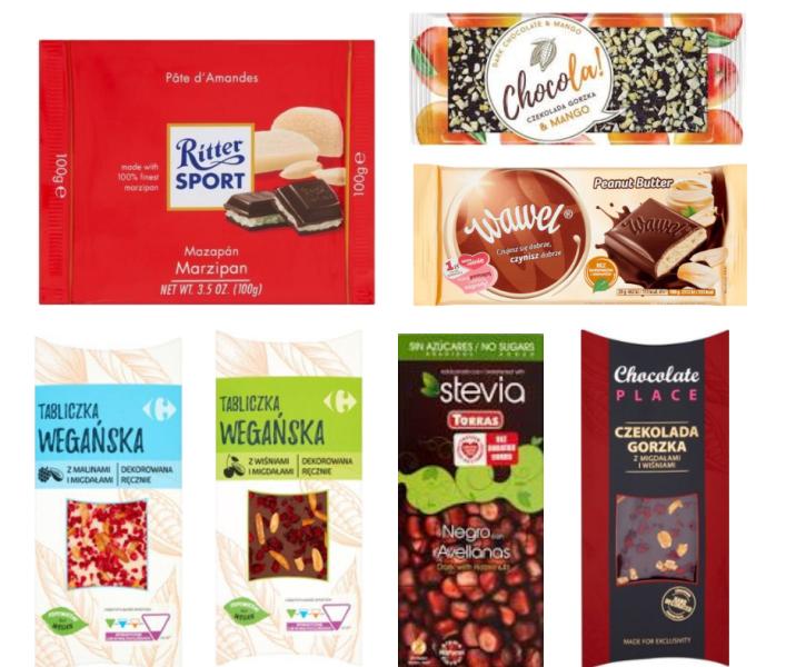 wegańskie czekolady w Carrefour