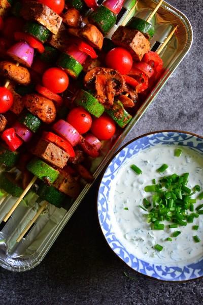 wegańskie szaszłyki bez mięsa - przepis
