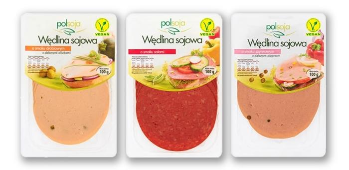 sojowe wegańskie wędliny Polsoja