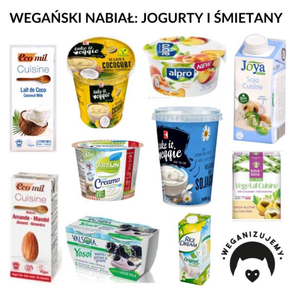 wegańskie jogurty i śmietany