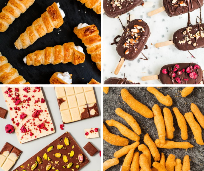 wegańskie słodycze - lody i czekolada