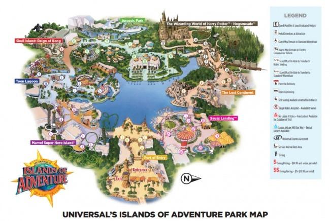 Island of Adventure Mapka PDF