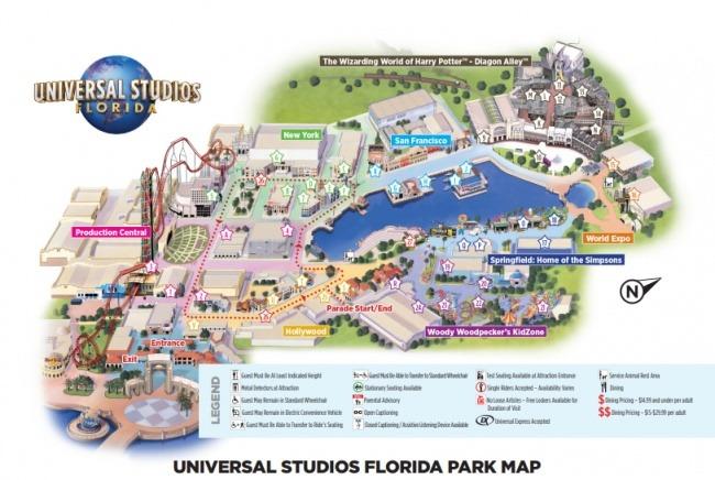 Universal Park Mapka PDF