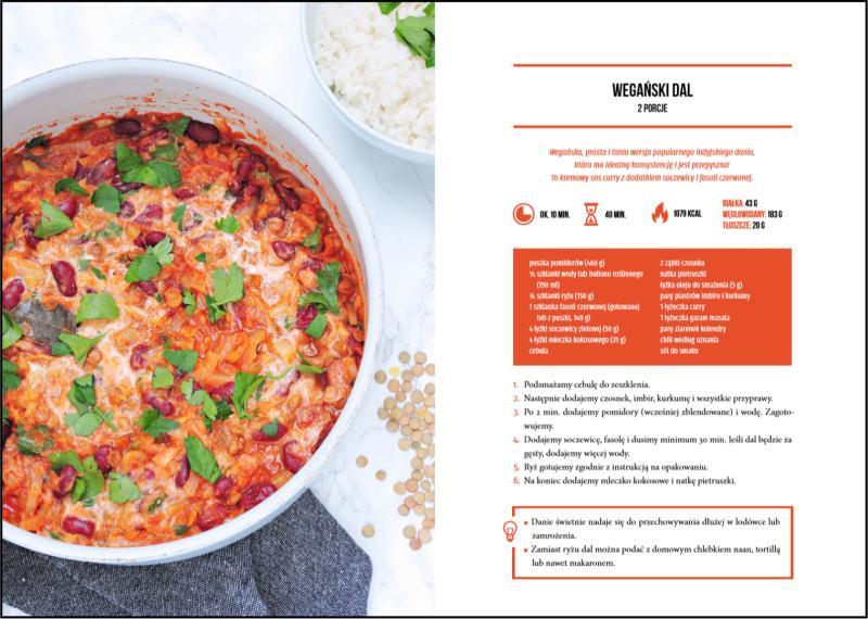 tani wegański obiad - dal - przepis