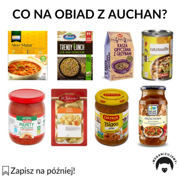 wegańskie obiady z Auchan