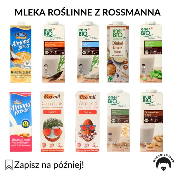 mleka roślinne rossmann
