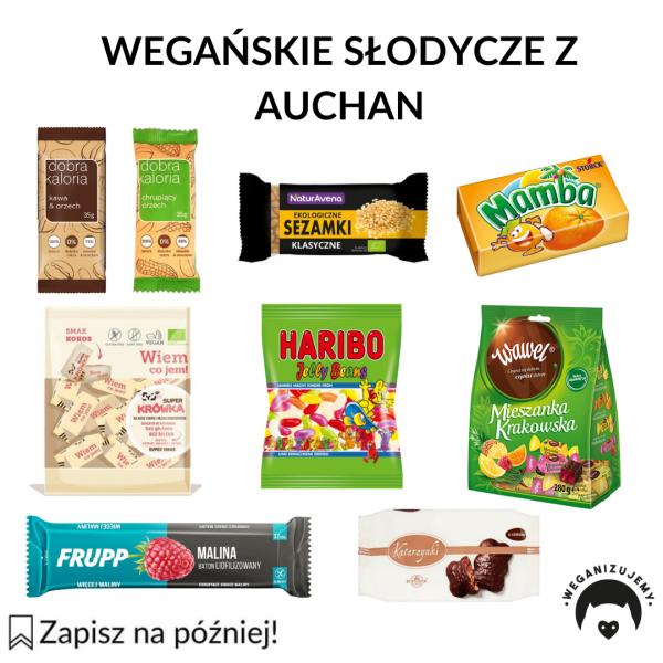 wegańskie słodycze z Auchan