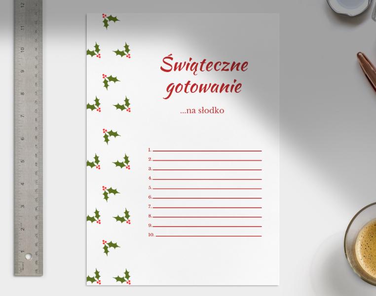 świąteczne listy do wydrukowania